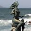 Another Mazatlan woman statue along the Malecon