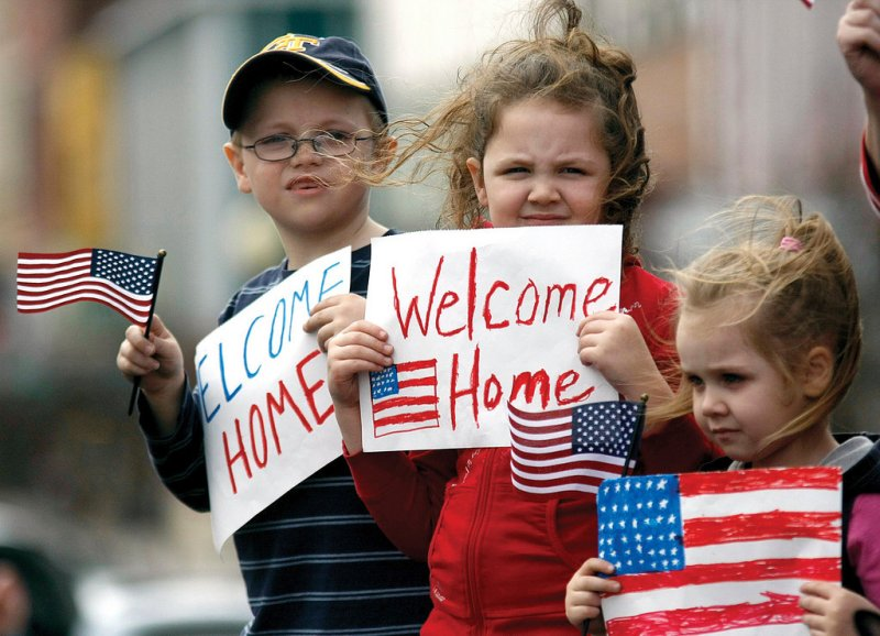 Children welcome Georgia National Guardsmen home from deployment to Afghanistan