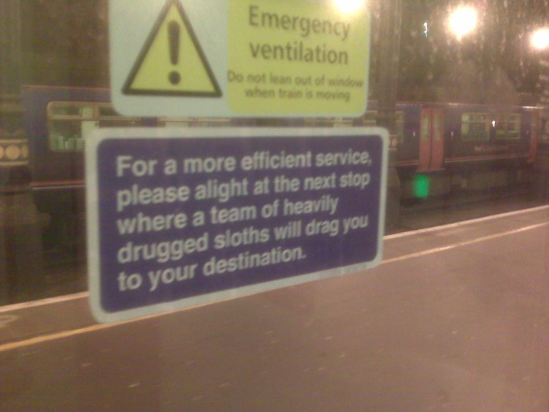 Spotted on the Gatwick Express
