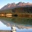 Stitched shot (3 photos) of Yellowhead Lake near Jasper National Park