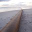 Pipeline am Strand
