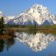 Mt. Moran from near the Oxbow Bend of the Snake River, Grand Tetons National Park