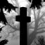 "Cincinnati - Spring Grove Cemetery & Arboretum ""Cross Silhouetted on Foggy Morning Tree"""