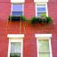 """Boston - North End Hull Street """"Colored Glass Windows & Potted Plants"""""""