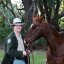 """California State Park Ranger """"Jeff"""" Jeffrey Sears and his 21-year old quarter horse named Peter"""