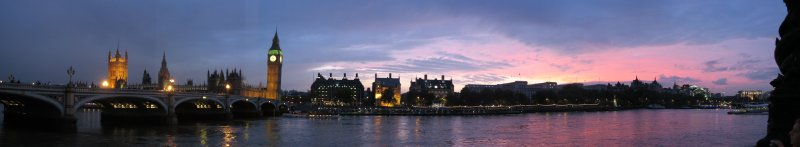 London, England (Panoramic Sunset)