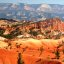 Colorful view from the Queen's Garden trail, Bryce Canyon National Park, Utah