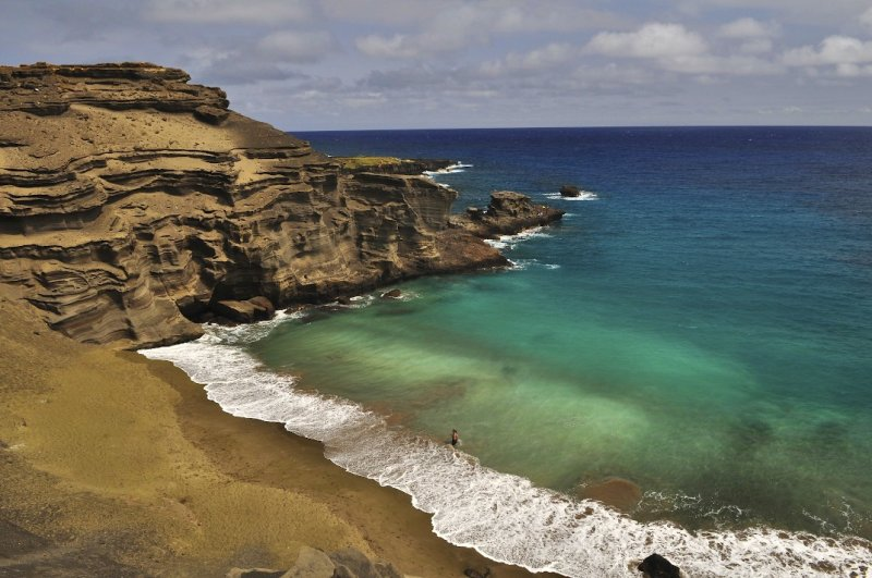 Papakolea Beach, Big Island, Hawaii.