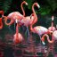 Flamingos Jungle Gurden