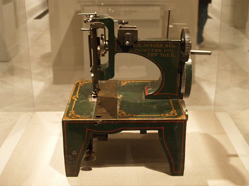 Isaac Singer's 1854 Patent Model For Improvements To His Sewing Machine At The National Portrait Gallery (Washington, DC)