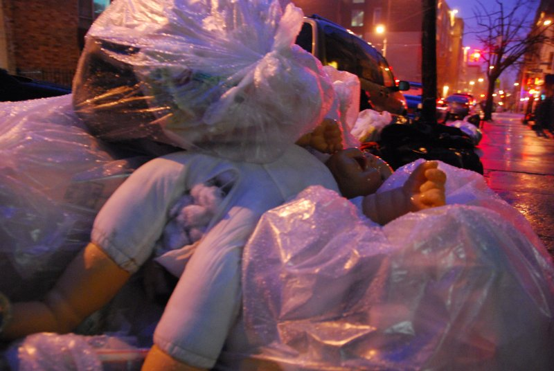 trashed baby doll