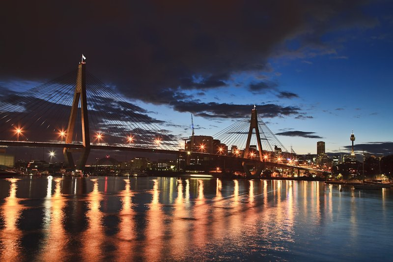 Anzac bridge at dawn.