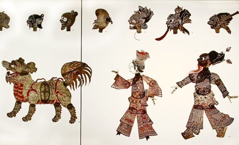 Figurines d'ombres chinoises (musée d'ethnographie, Berlin)