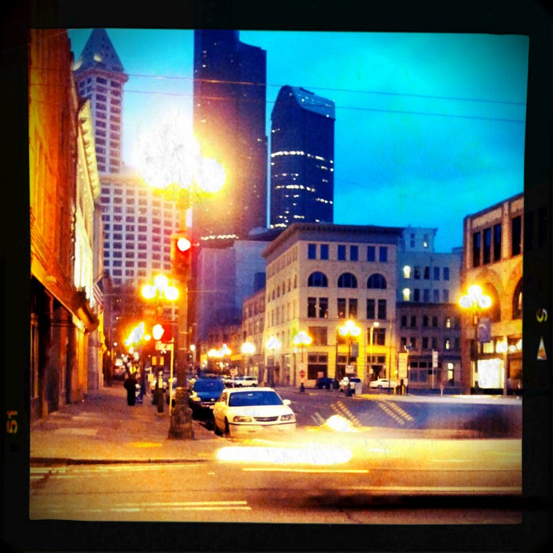 Pioneer Square at Dusk