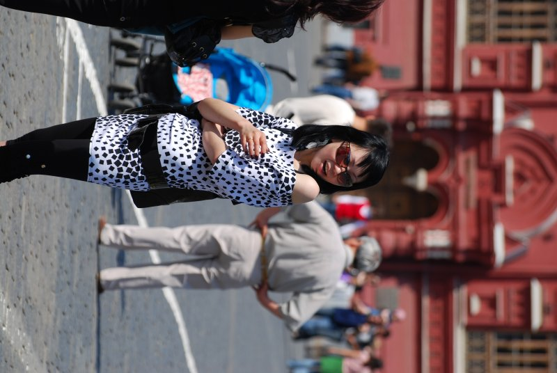 Posing at Red square