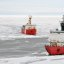 Canadian Ship Louis S. St-Laurent and Coast Guard Cutter Healy in the Arctic Ocean