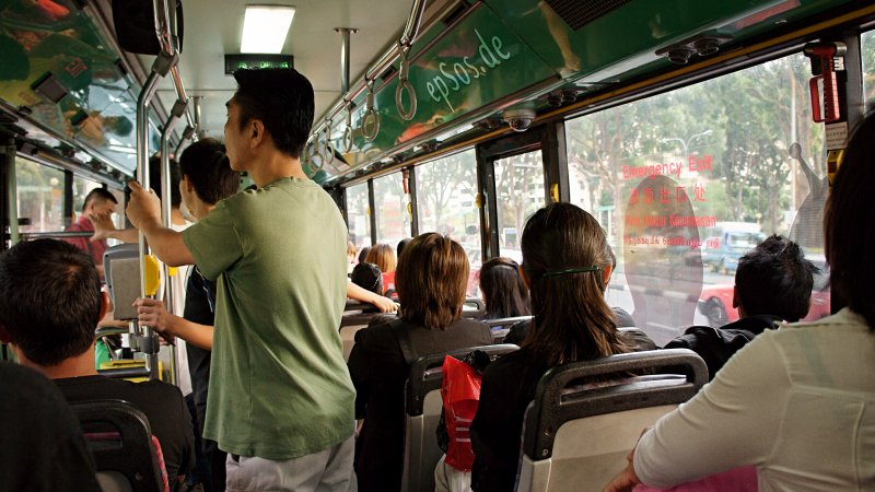People in the Bus for Public Transportation