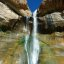 Calf Creek Falls right before the crowds showed up