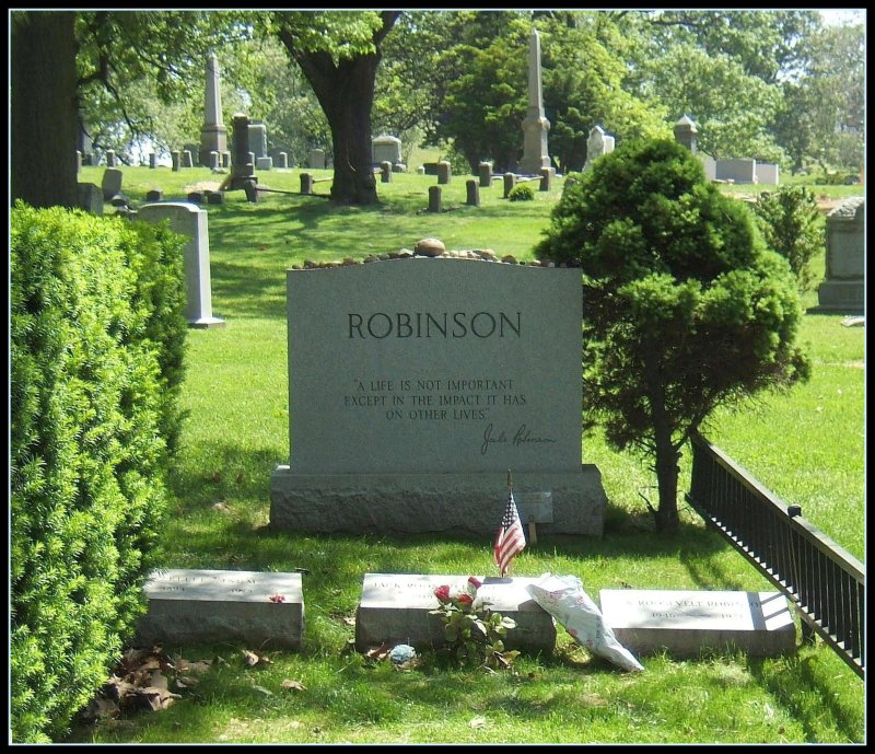 Jackie Robinson, Civil Rights Pioneer (note the epitaph and brief biography)