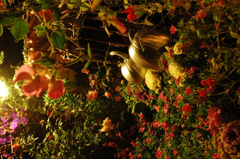 this twilight garden ... Halloween Thanksgiving, Mill Rose Inn, Half Moon Bay, California, USA
