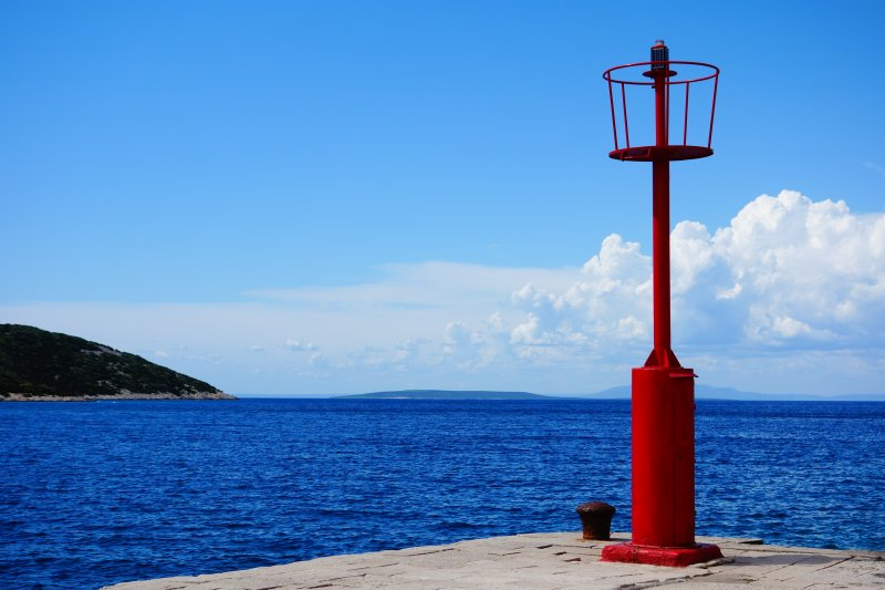 Red Paint Beacon in Osor