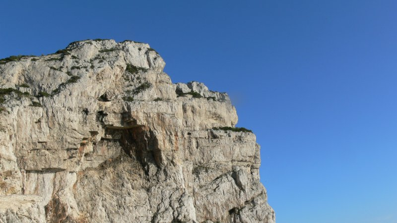 The Great Cliffs in the Blue Sky