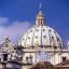 Rome - St. Peter's Basilica Dome & Fountain