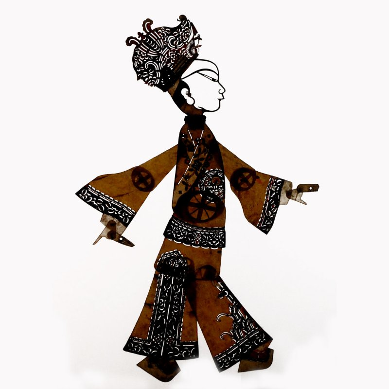Figurine d'ombres chinoises (musée d'ethnographie, Berlin)