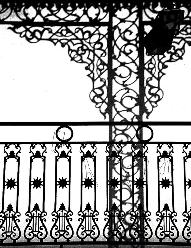 """New Orleans - French Quarter """"Cast-Iron Balcony & Shadow"""""""