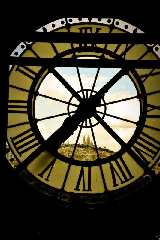 Paris : musee orsay Clock with Momartre
