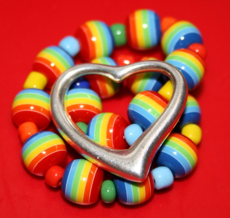 Free Colorful Happy Rainbow Valentine Love Heart Creative Commons