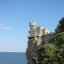 "The ""Swallow's Nest"" castle on the Aurora cliffs of cape Ai-Todor (2005-09-227)"