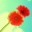 Forever and Always Two Bright Flowers On Blue Sky