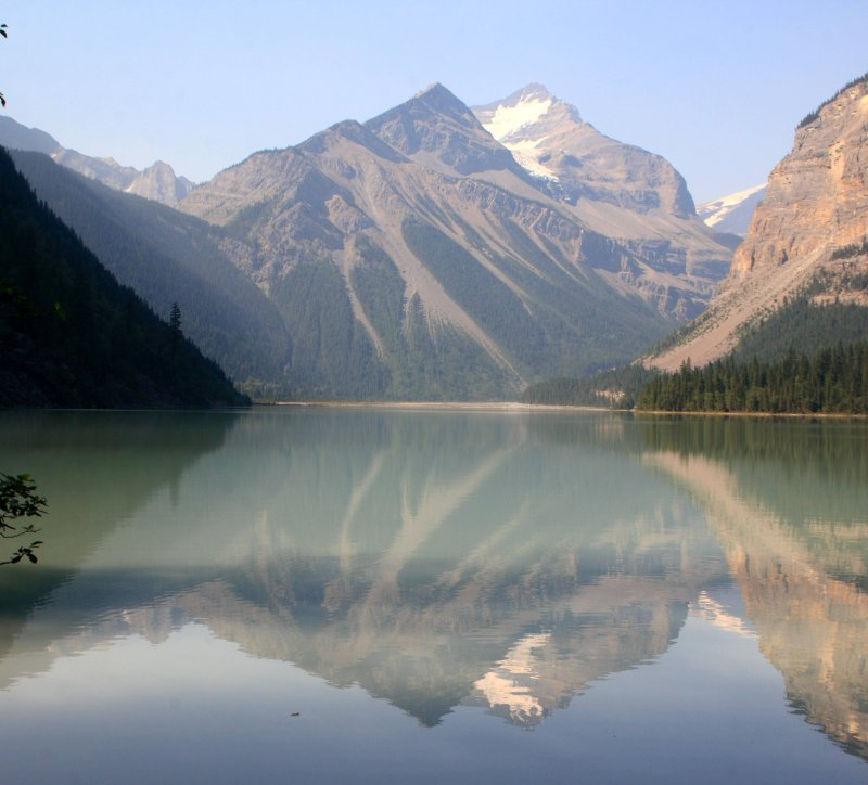 I think this is Resplendent Mountain reflected on Kinney Lake, Mt. Robson