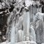 Frozen waterfall on the Seward Highway, near Turnagain Arm, Anchorage, Alaska