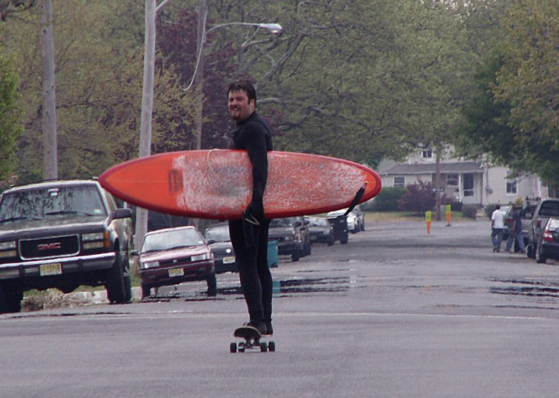 Well, How Would YOU Get Home From a Day of Surfing?