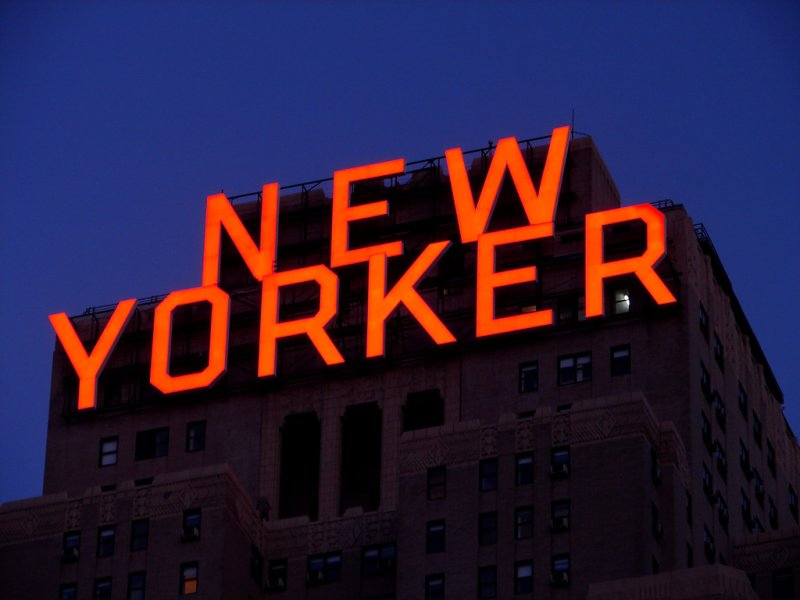 New Yorker Sign...