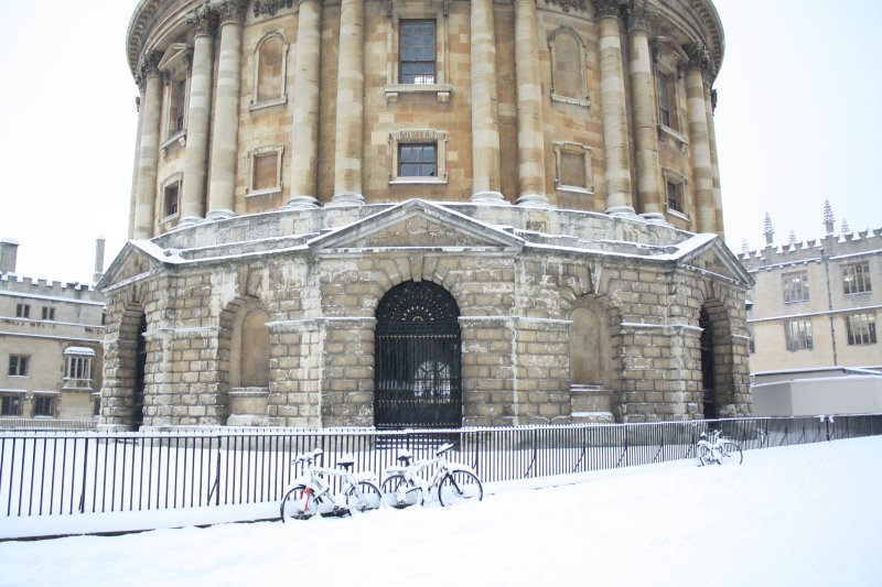 Oxford in the snow