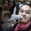 Zombie woman at Occupy Wall Street