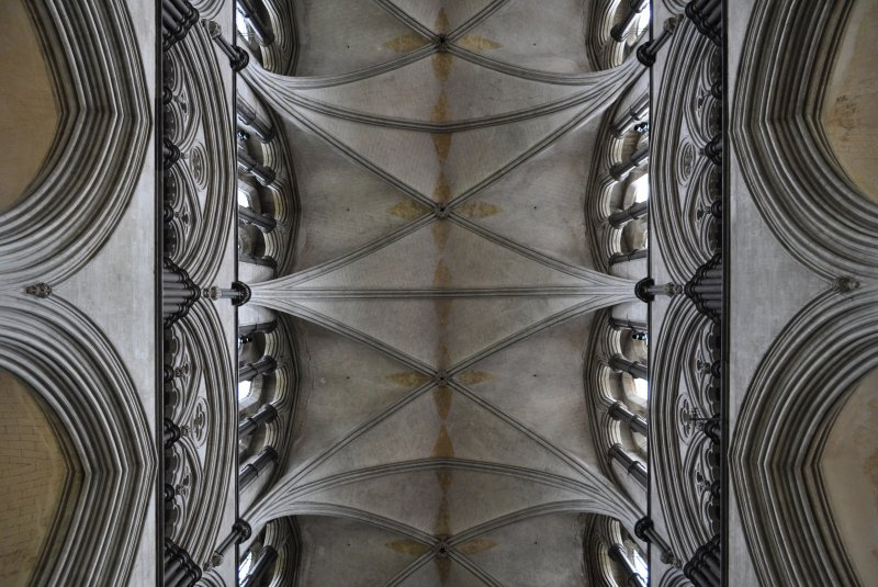 salisbury cathedral, nave vaults, 1220-1258