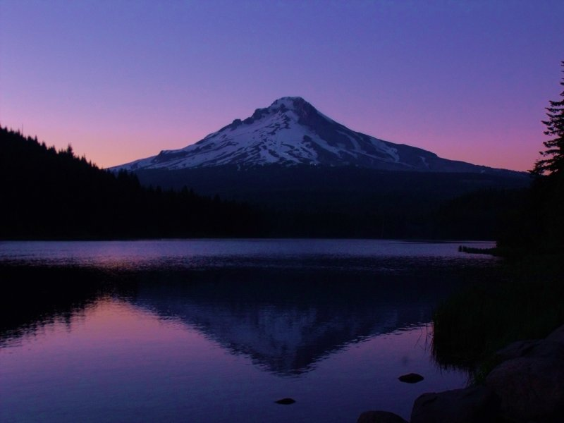 Mt. Hood @ sunset from Trillium Lake