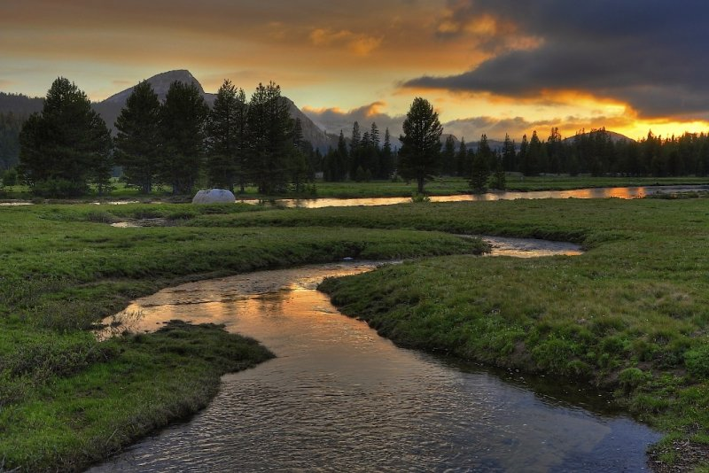 Budd Creek Sunset, Tuolumne Meadow, Yosemite National Park