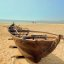 Altes Fischerboot - Velsao Beach - Goa - Indien