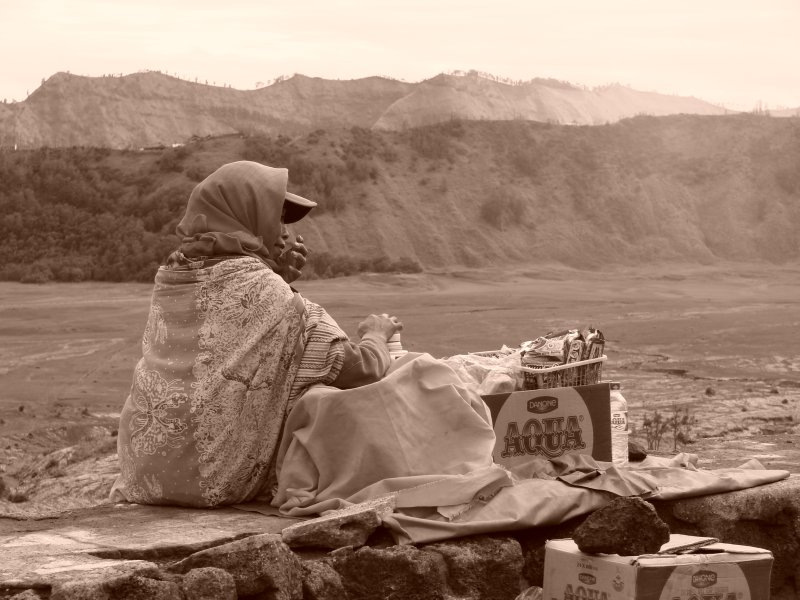 A seller on the mountain