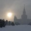 Moscow State University in a haze (2006-01-015)
