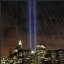 9/11 Lights from the Brooklyn Bridge