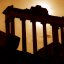 "Rome - Roman Forum ""Temple of Saturn in Silhouette"""