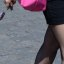 Red square, pink bag and gold shoe
