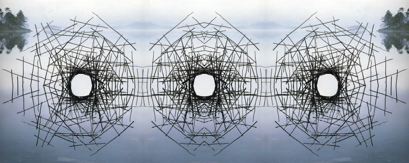 Andy Goldsworthy - Montage by iuri - Sticks Framing a Lake (2560x1024)