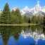 Reflection of the Grand Tetons from Schwabacher Landing - just wish that cloud went away!